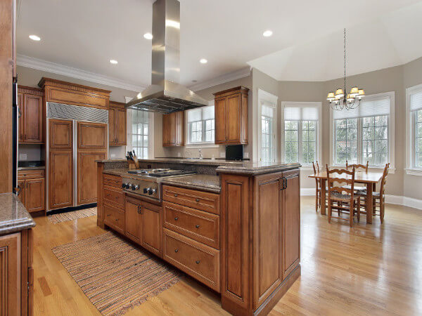 Brown Kitchen Renovation Project in Houston, TX