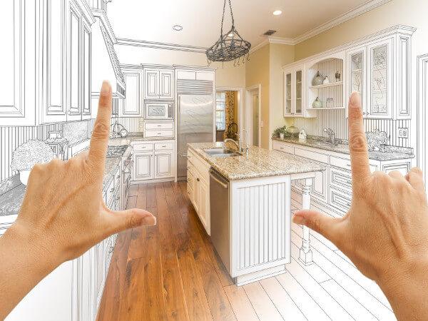Dark Kitchen Renovation Project in Houston, TX